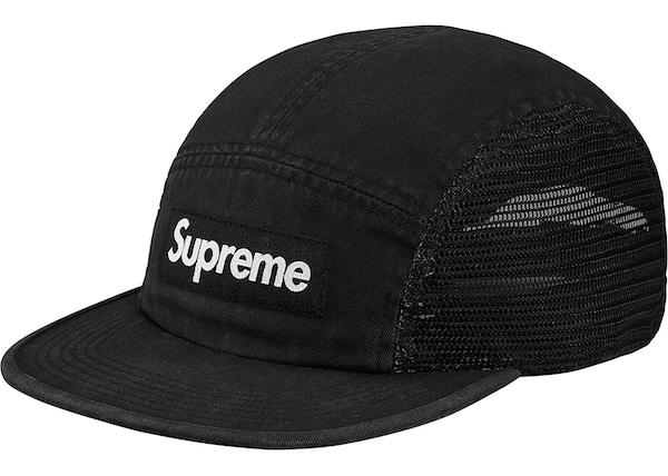 5a6c0ebbb4b Supreme Mesh Side Panel Camp Cap Black - SS18