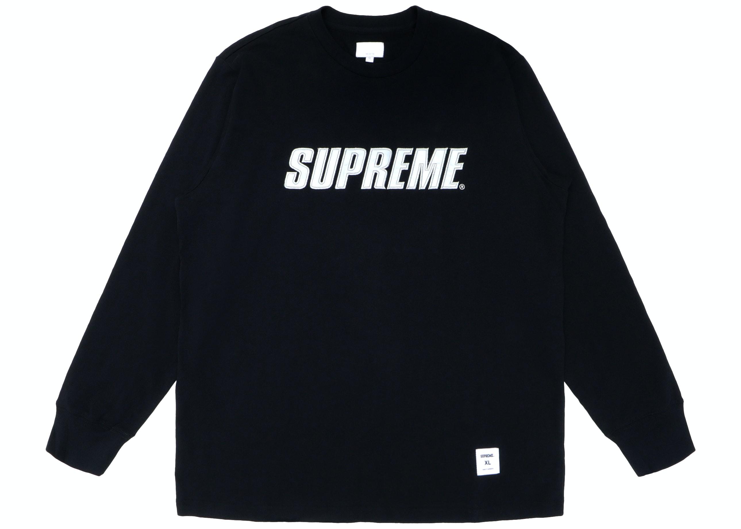 Supreme Metallic L/S Top Black