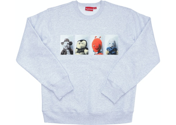e706d14cb13 Supreme Mike Kelley AhhYouth! Crewneck Sweatshirt Ash Grey
