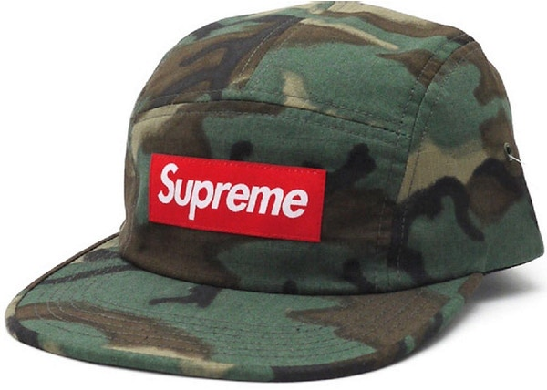 6ca5c9975b4 Supreme Military Painted Camp Cap Olive Camo - SS15
