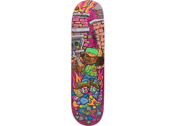 18493d98 Supreme Molotov Kid Skateboard Deck Pink