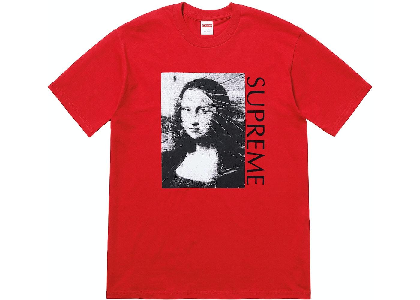 7219a1c02145 Supreme Mona Lisa Tee Red - SS18
