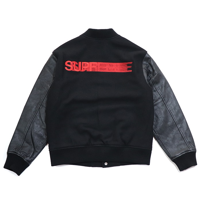 Supreme Motion Logo Varsity Jacket Black