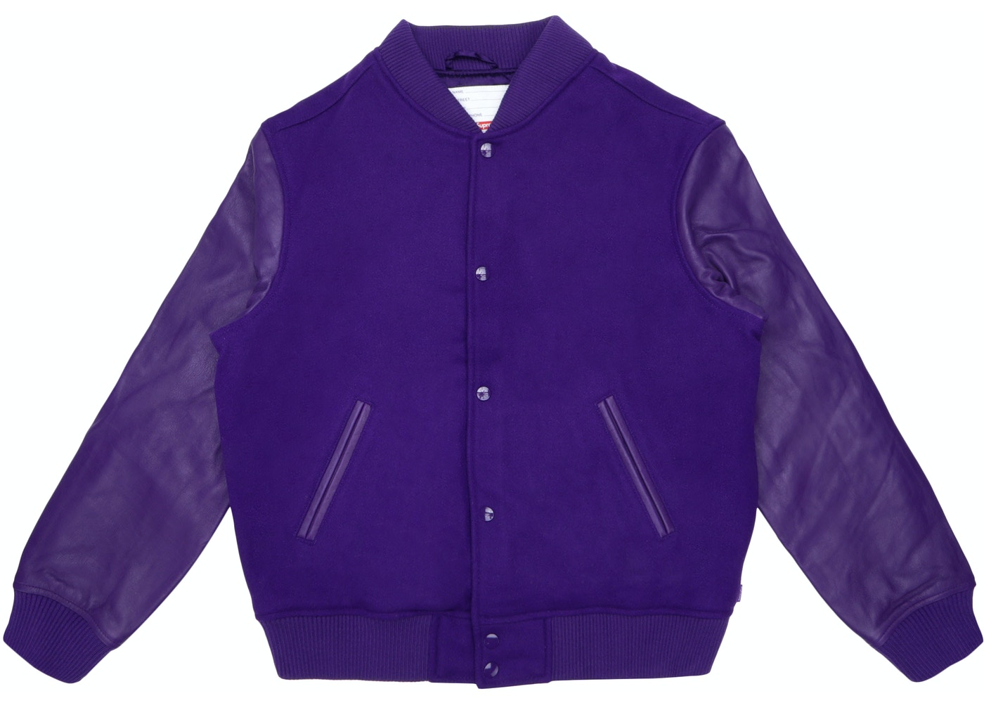 the latest b70ab 08882 Sell. or Ask. Size S. View All Bids. Supreme Motion Logo Varsity Jacket  Purple