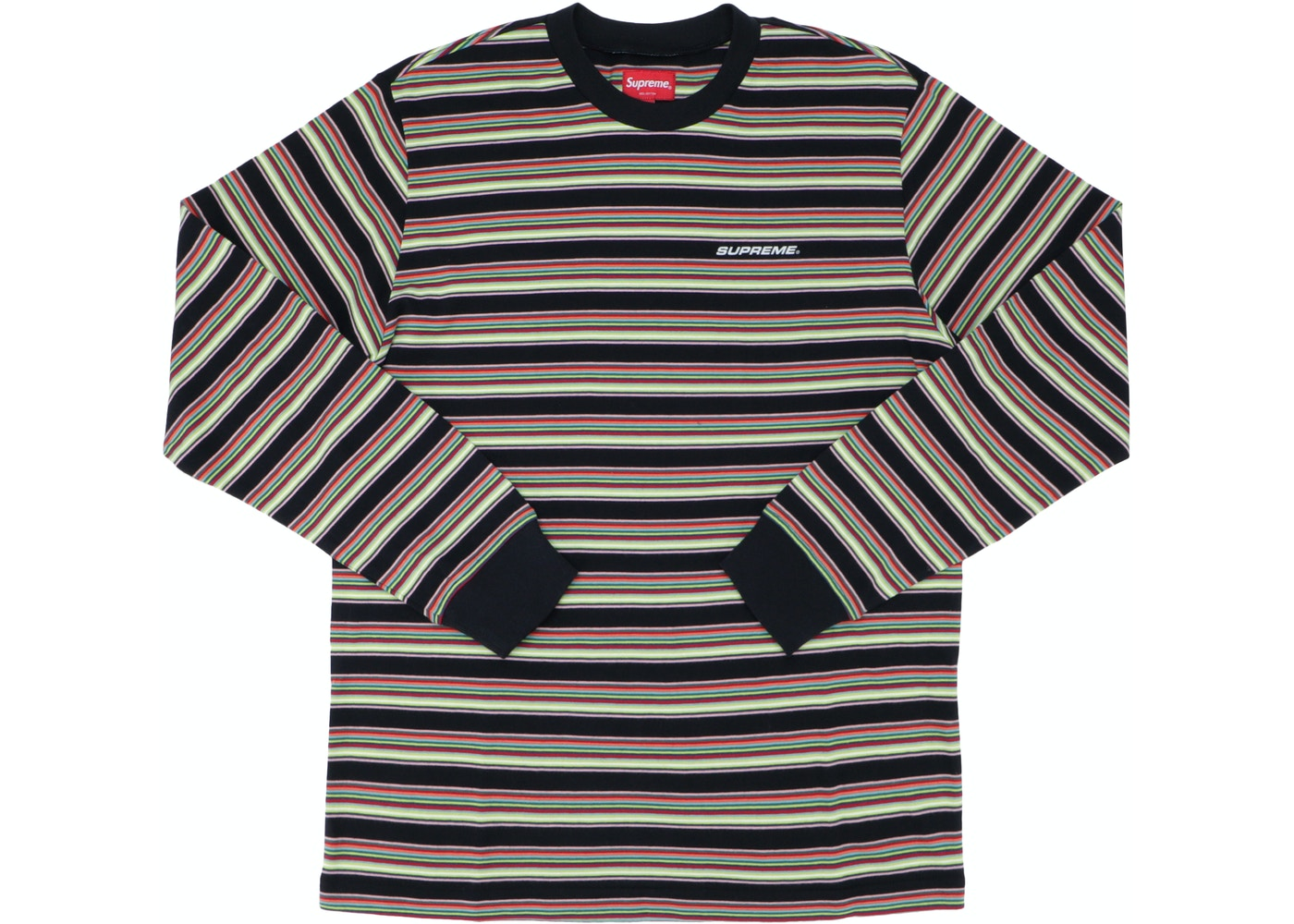 282dd7603d Supreme Multi Stripe L/S Top Black - SS18