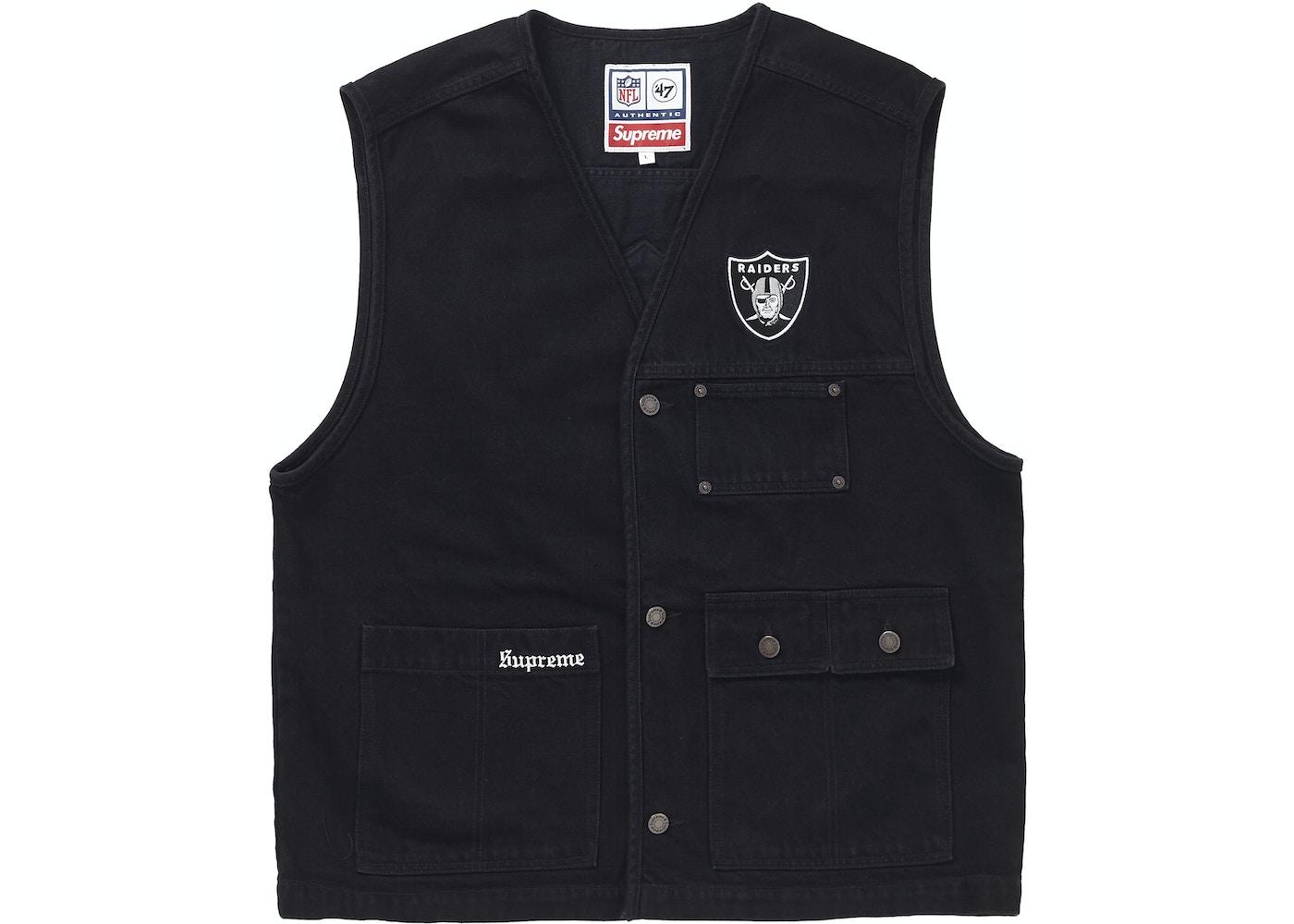 71730b2d6 Supreme NFL x Raiders x '47 Denim Vest Black