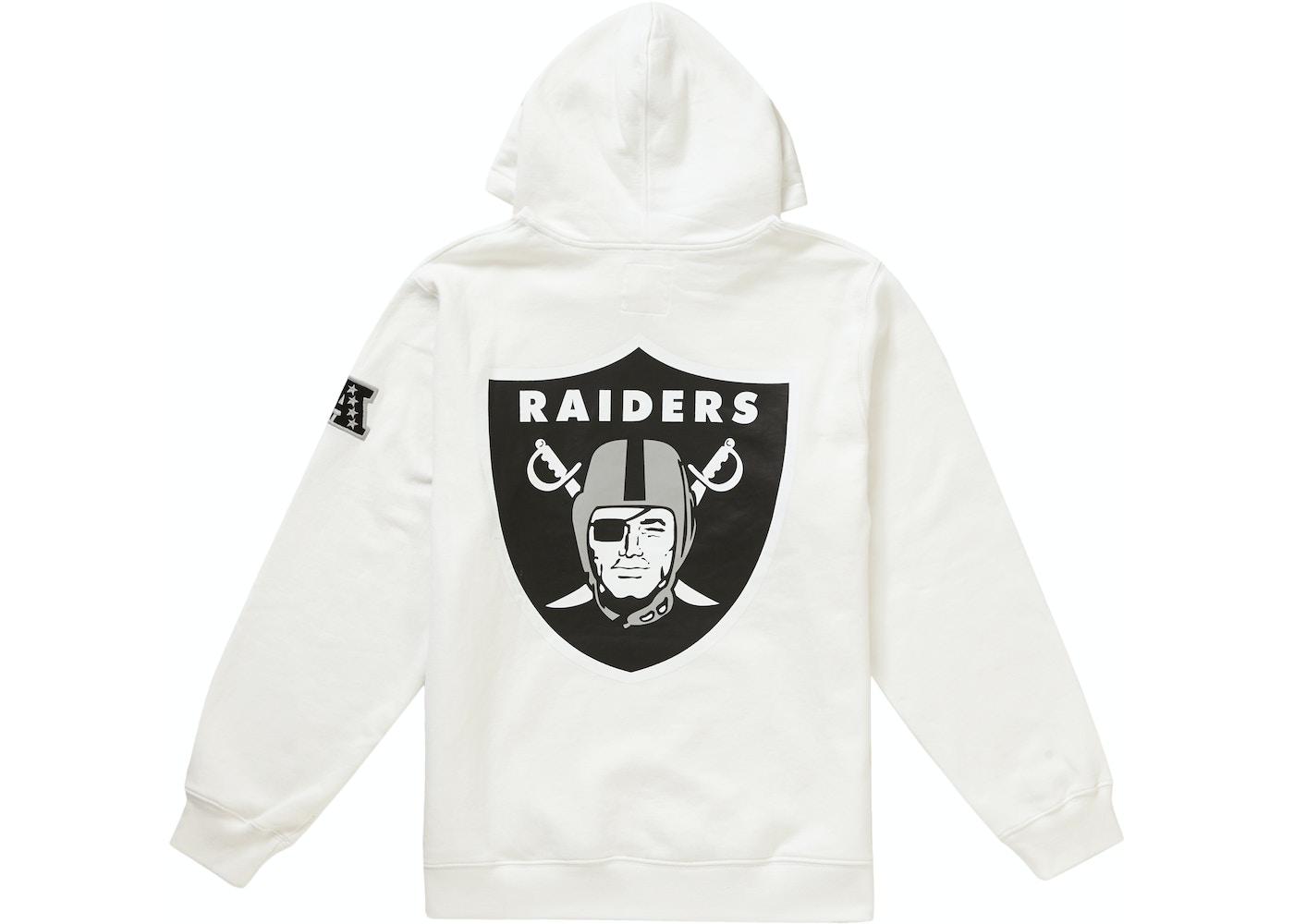06265821 Supreme NFL x Raiders x '47 Hooded Sweatshirt White - SS19