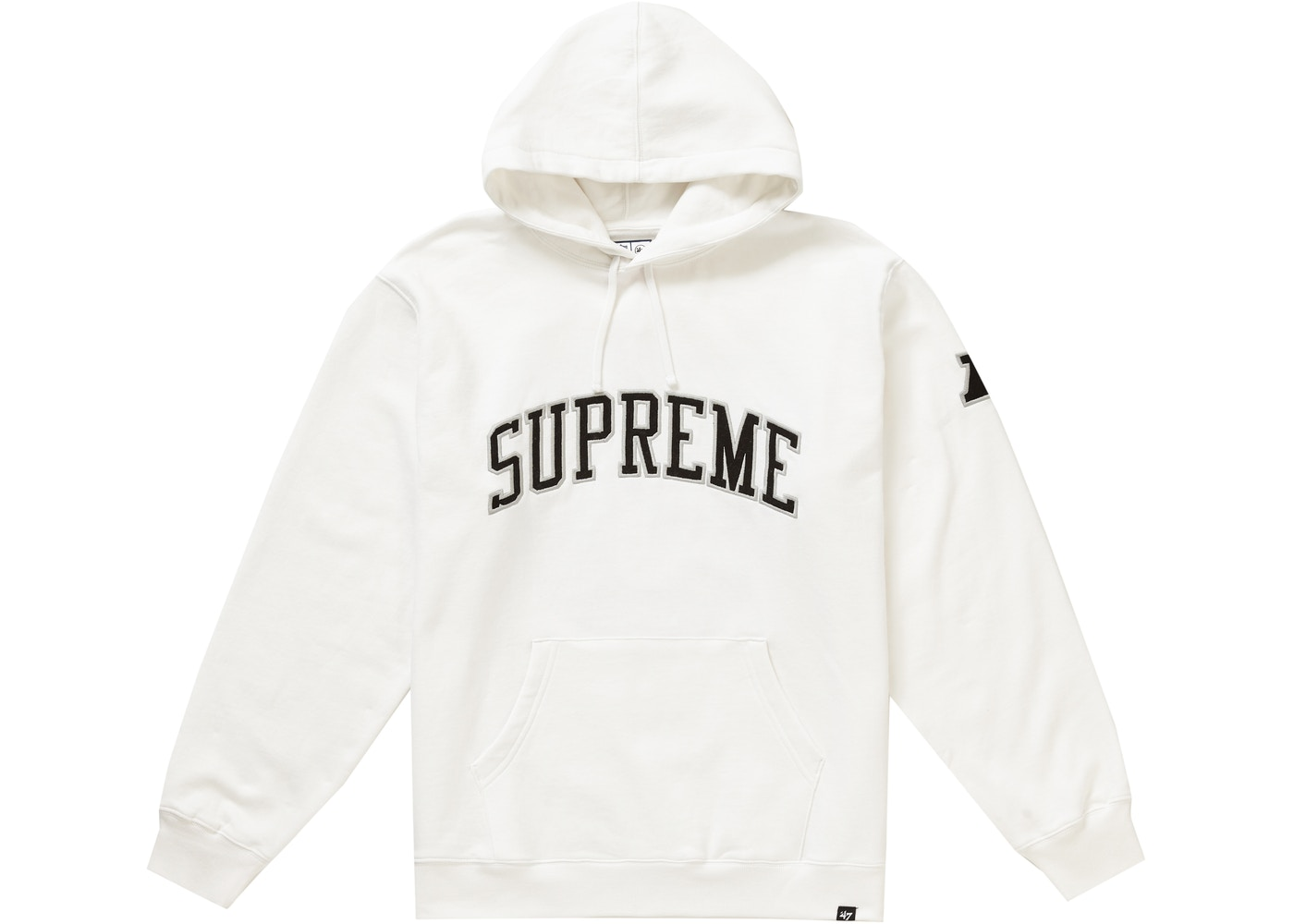 buy online be5b7 f74f1 Supreme NFL x Raiders x '47 Hooded Sweatshirt White