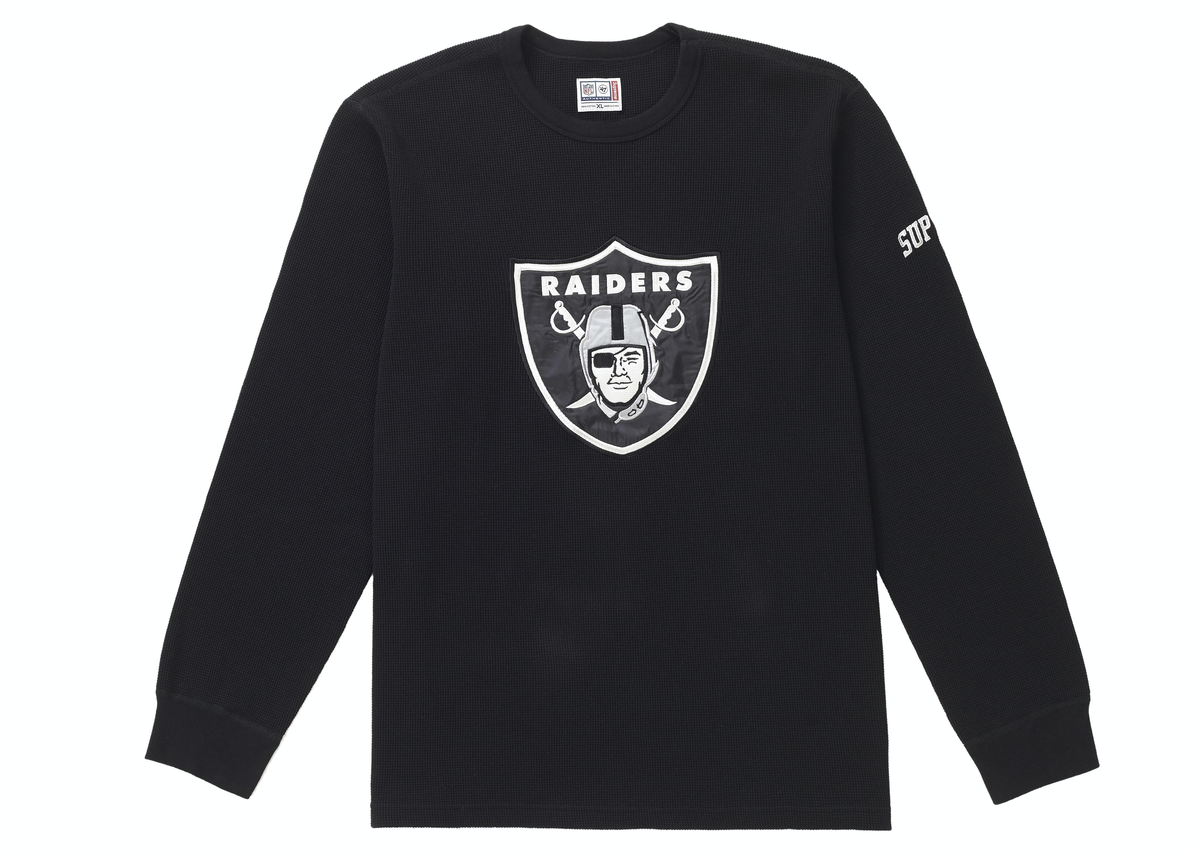 Supreme NFL x Raiders x '47 Thermal Black