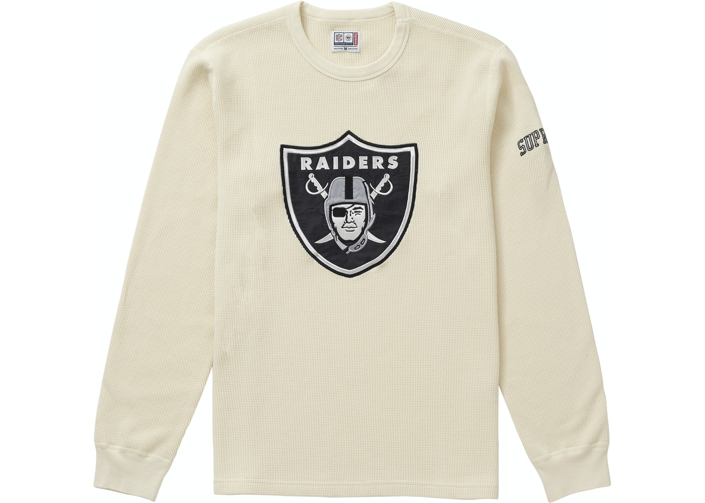 feaa6513 Sell. or Ask. Size: XL. View All Bids. Supreme NFL x Raiders x '47 Thermal  Natural