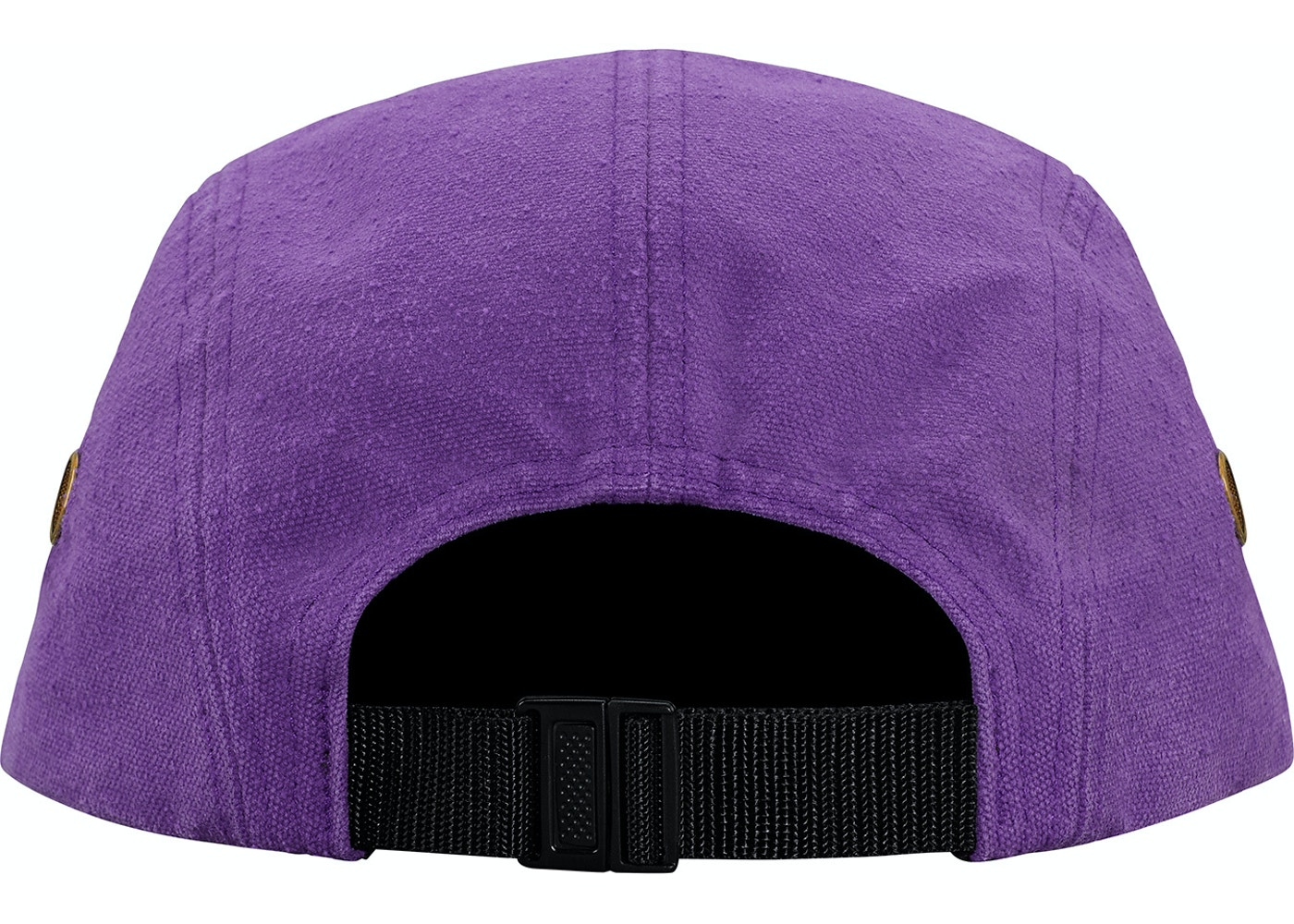 Supreme Napped Canvas Camp Cap Purple