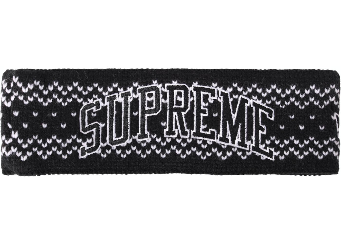 Supreme New Era Arc Logo Headband (FW17) Black - FW17