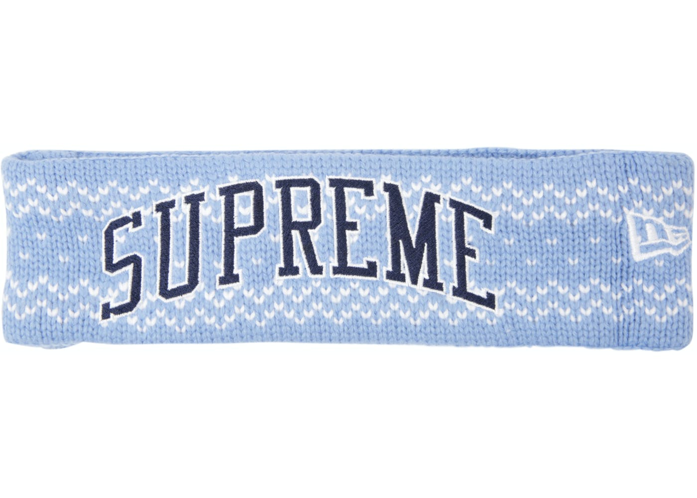 e1d30594c58 SUPREME HEADBAND ARC Logo KNIT ~~ORIGINAL~~BLUE BLACk RED New ...