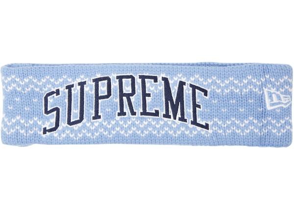 Supreme New Era Arc Logo Headband (FW17) Light Blue - FW17 a5df7371aee9