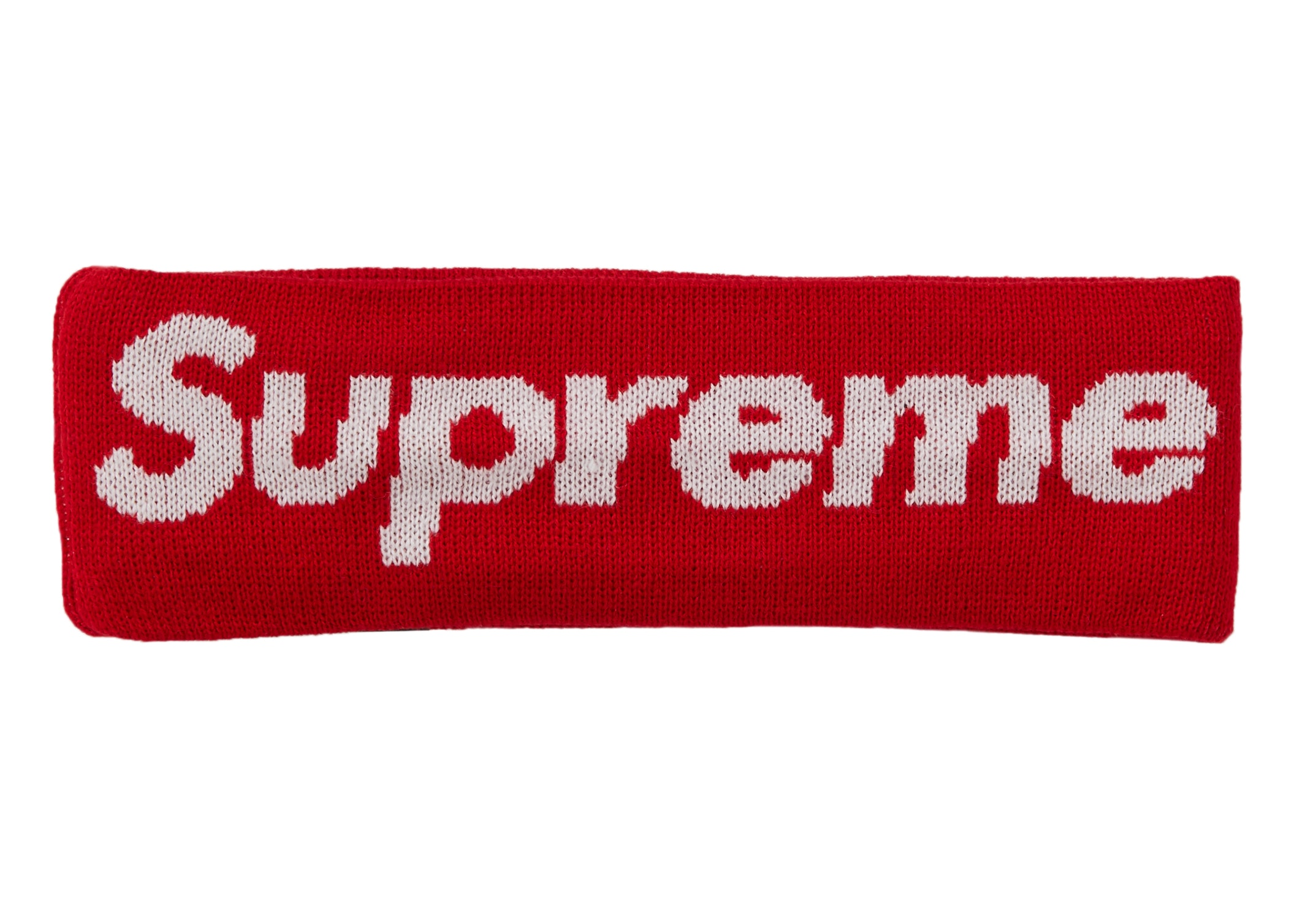 Supreme New Era Big Logo Headband (FW18) Red