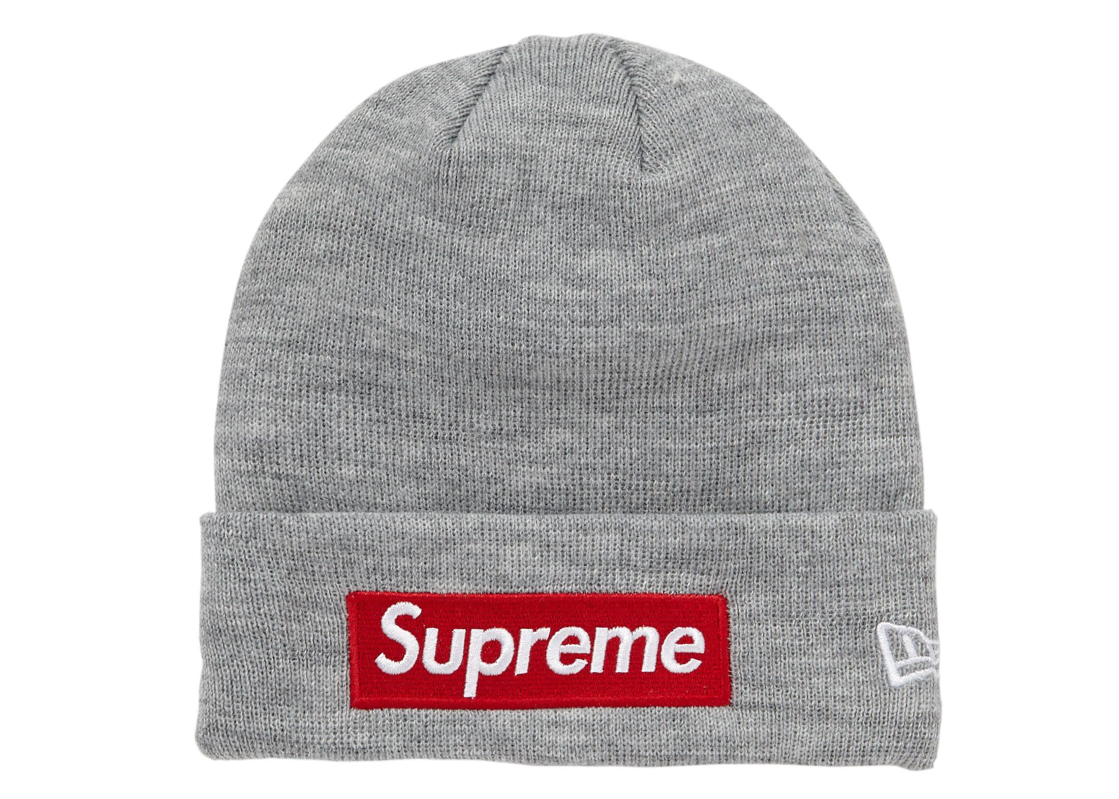 NWT Supreme x New Era Box Logo Red Beanie Hat F//W 15