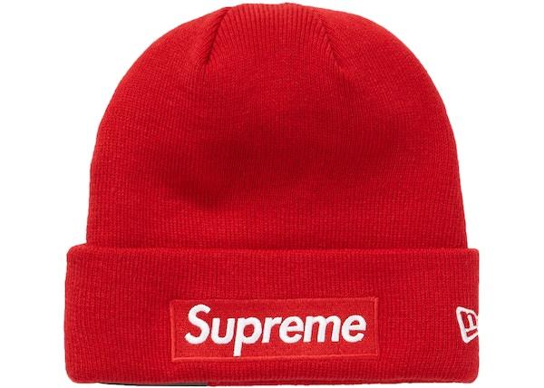 Supreme New Era Box Logo Beanie (FW18) Red a40fd32dff2b