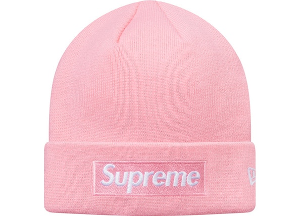 Supreme New Era Box Logo Beanie (FW16) Pink - FW16 e8290883e53