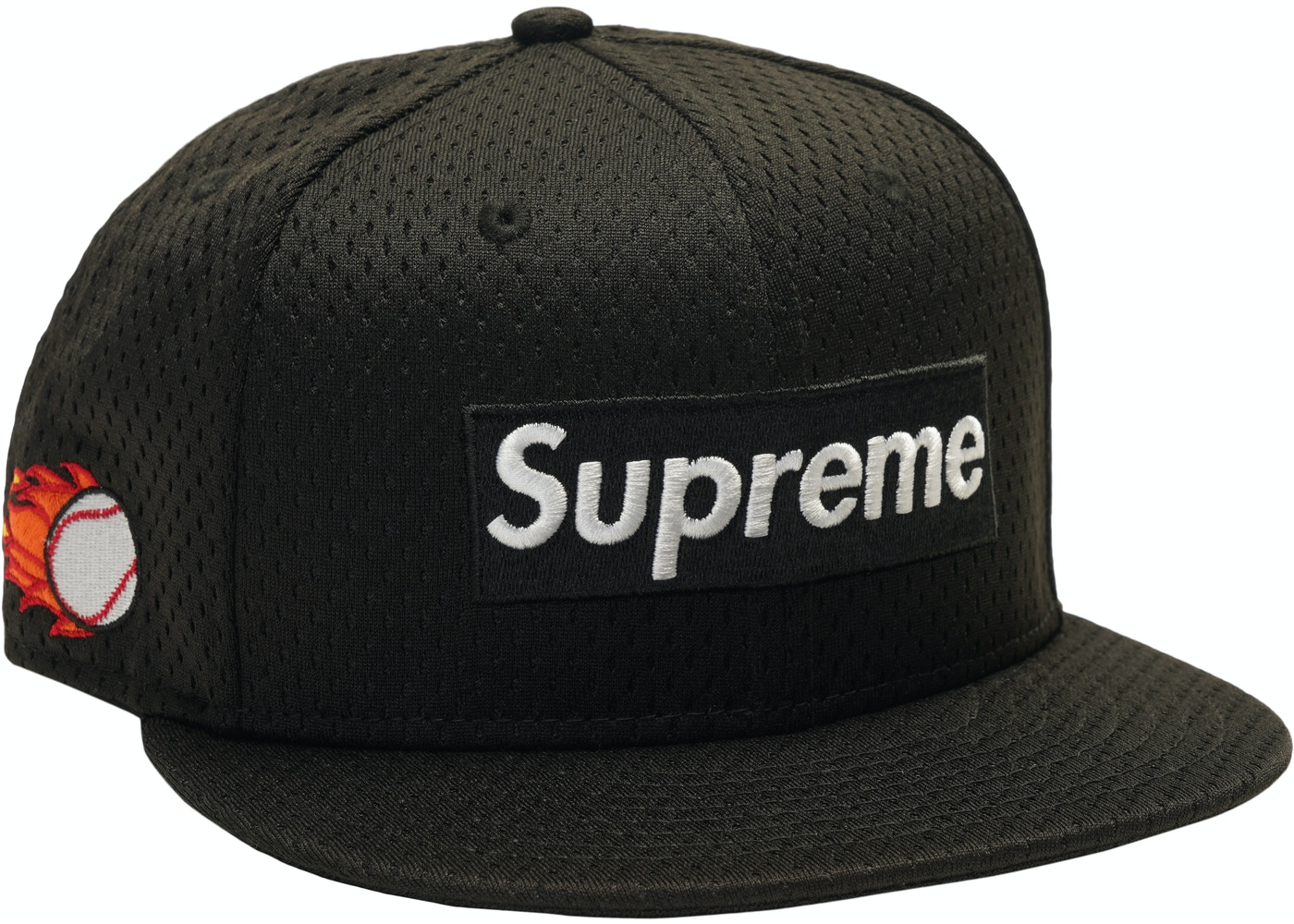 Supreme New Era Mesh Box Logo Cap Black