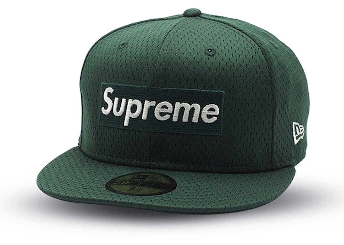 172efd06 Supreme New Era Mesh Box Logo Cap Dark Green - SS18