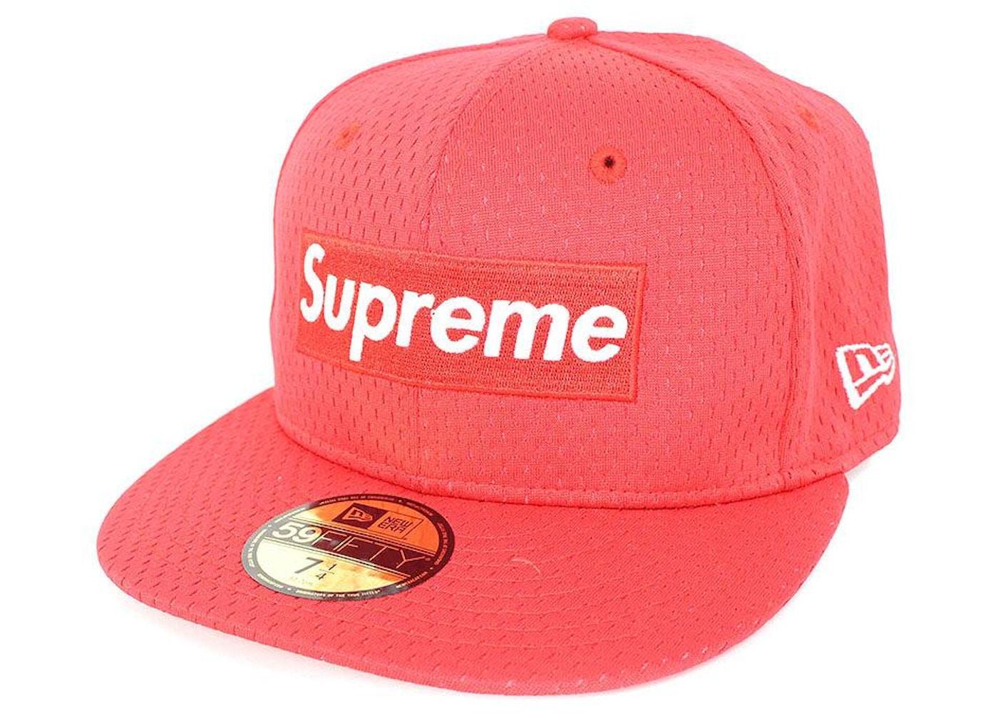 cb7be5e0 Supreme New Era Mesh Box Logo Cap Red - SS18