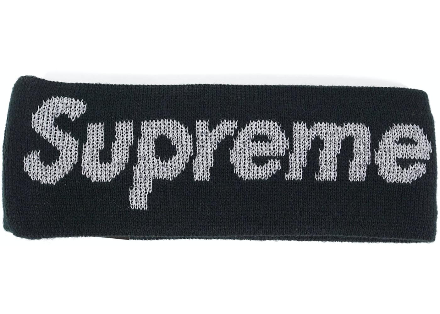 rozmiar 40 ekskluzywne oferty duża zniżka Supreme New Era Reflective Logo Headband (FW 17) Black