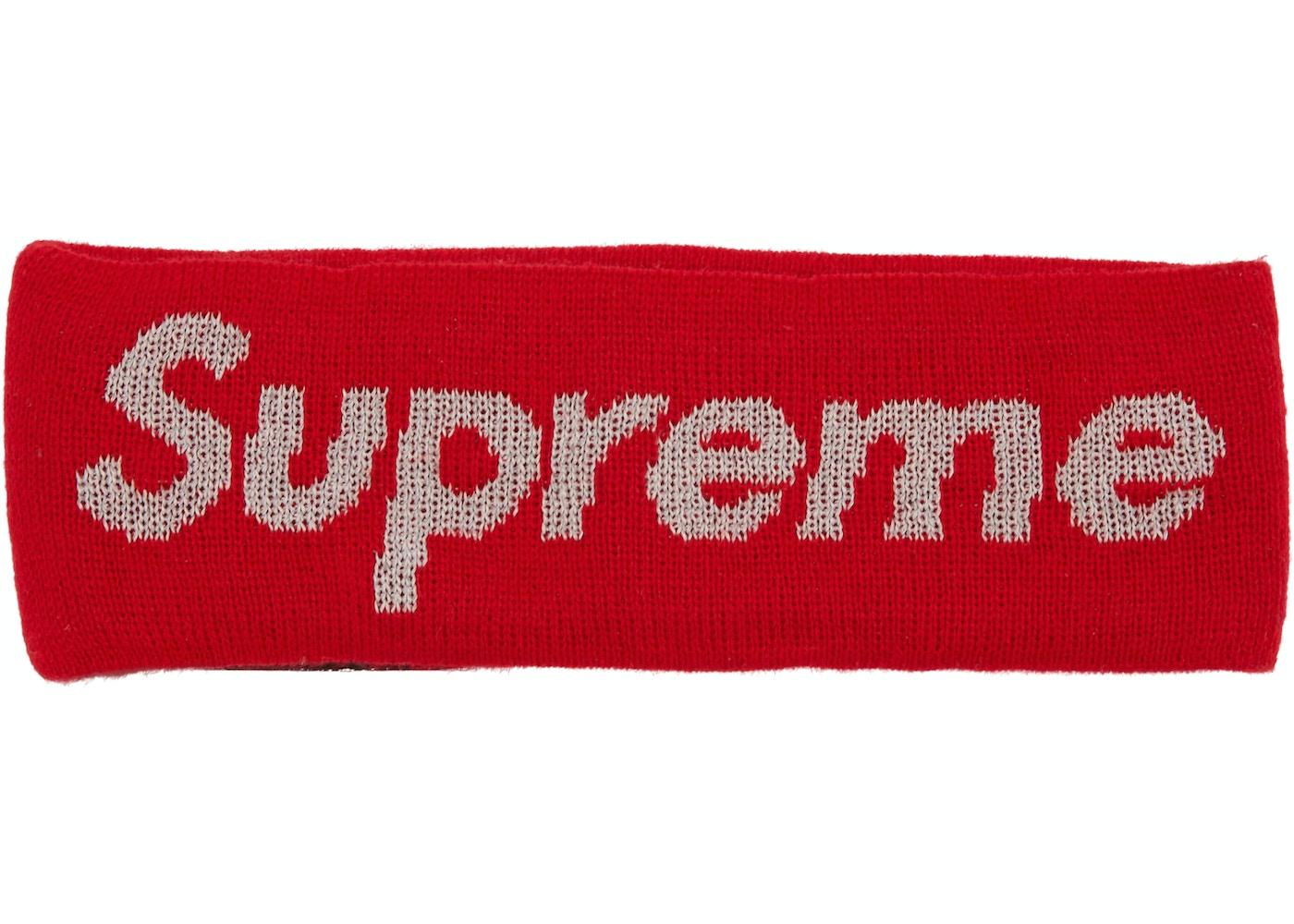 on sale c6f97 863dd Supreme New Era Reflective Logo Headband (FW 17) Red — HypeAnalyzer