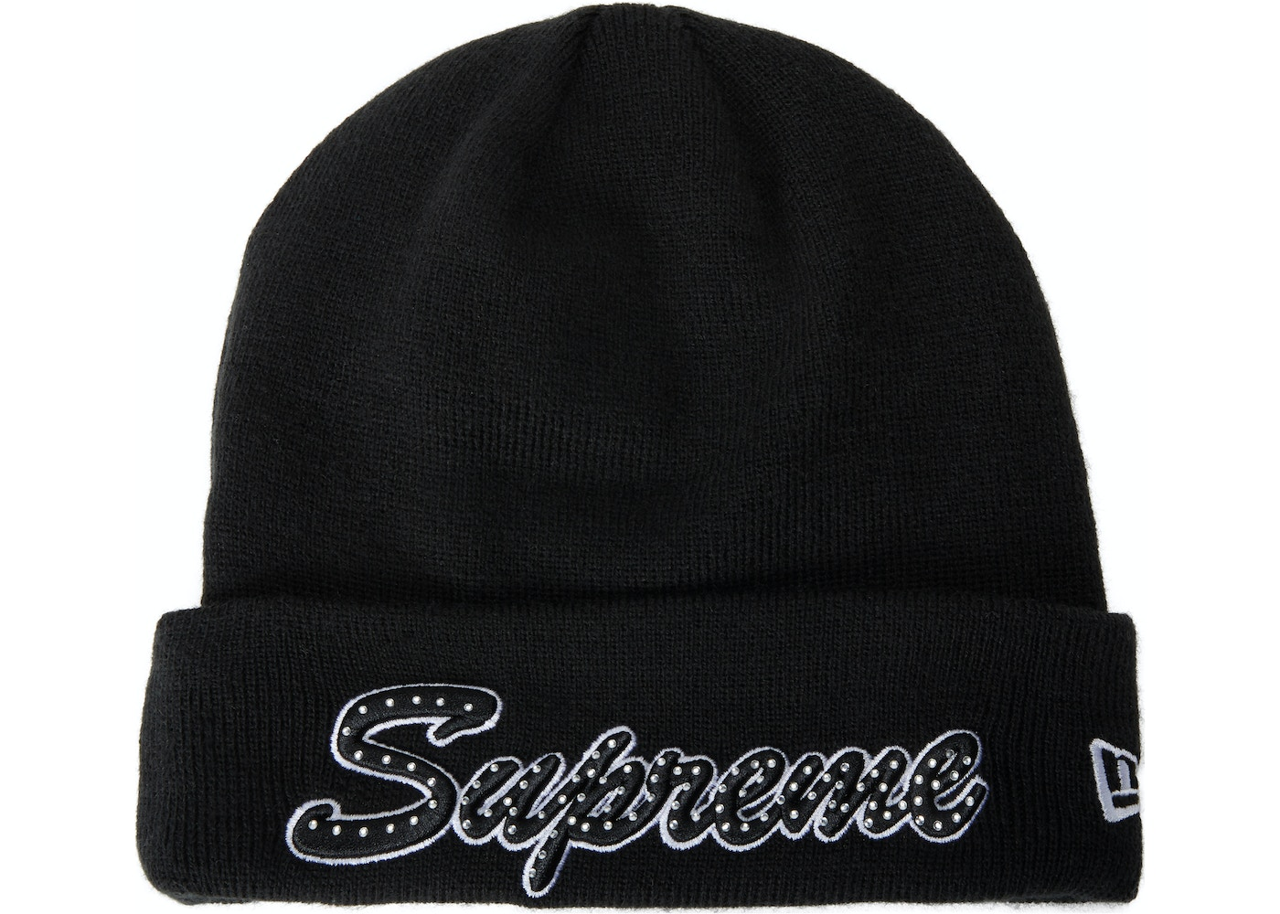3cd1bf4ad69 Sell. or Ask. View All Bids. Supreme New Era Script Beanie (FW18) Black