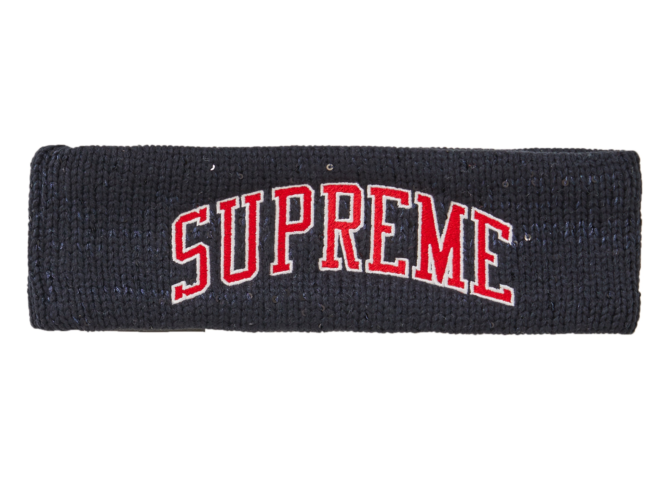 Supreme New Era Sequin Arc Logo Headband Navy