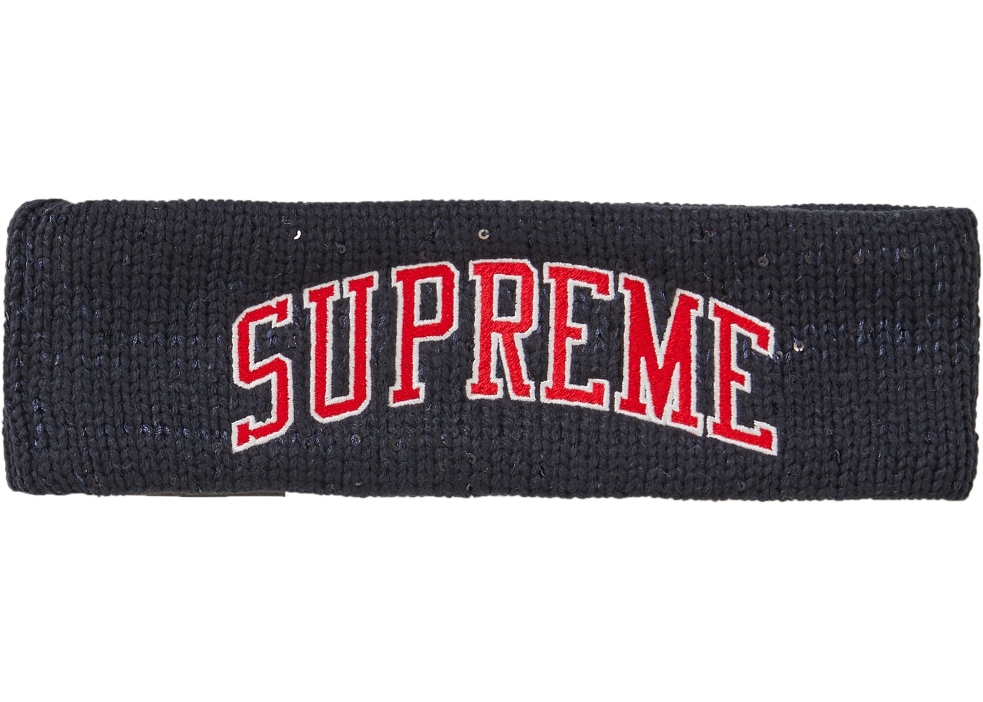 a7a9875f7 Supreme New Era Sequin Arc Logo Headband Navy