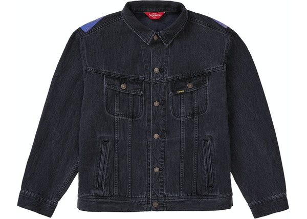 8dcf3145a Supreme New York Painted Trucker Jacket Black - SS19