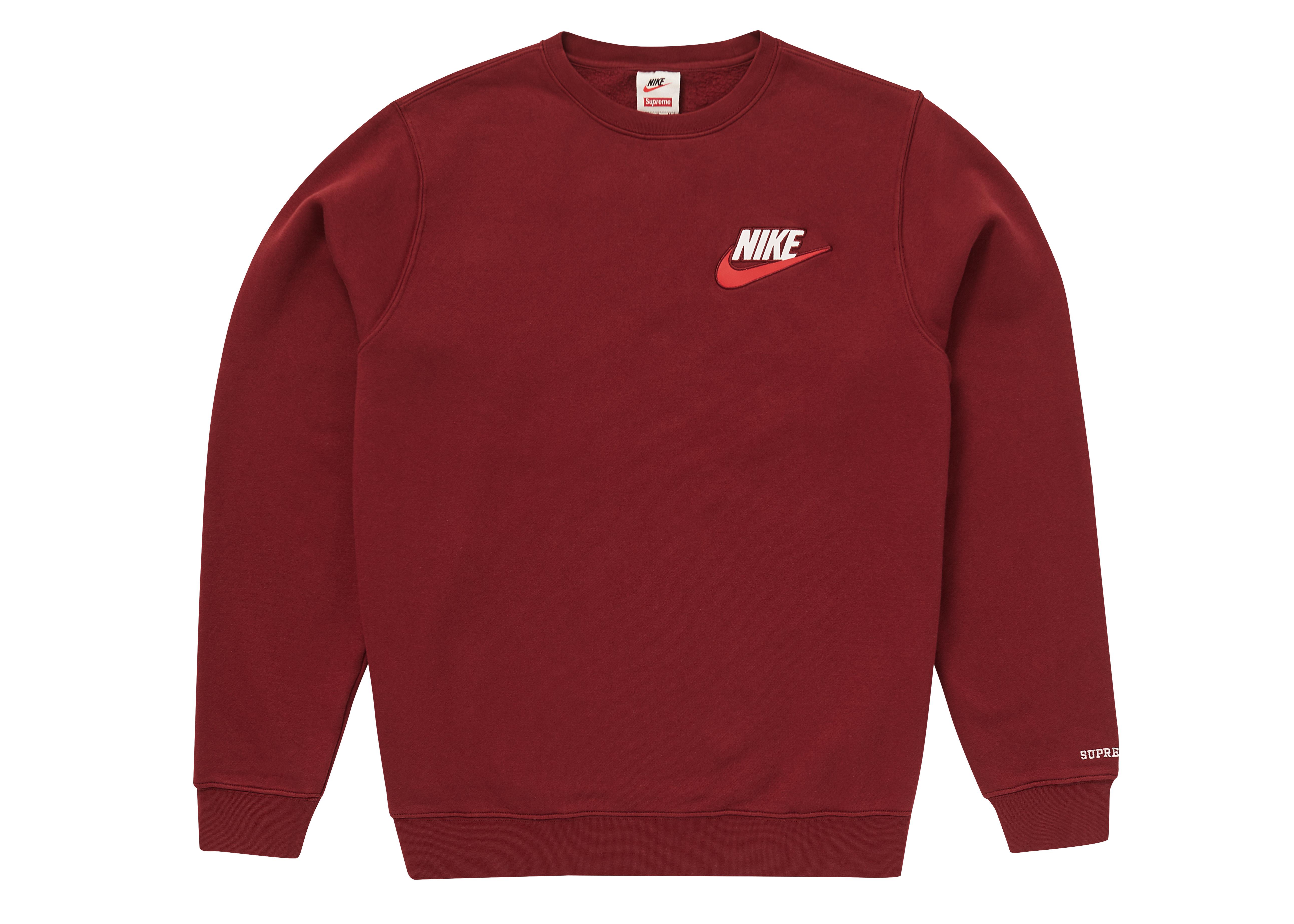 Supreme Nike Crewneck Burgundy