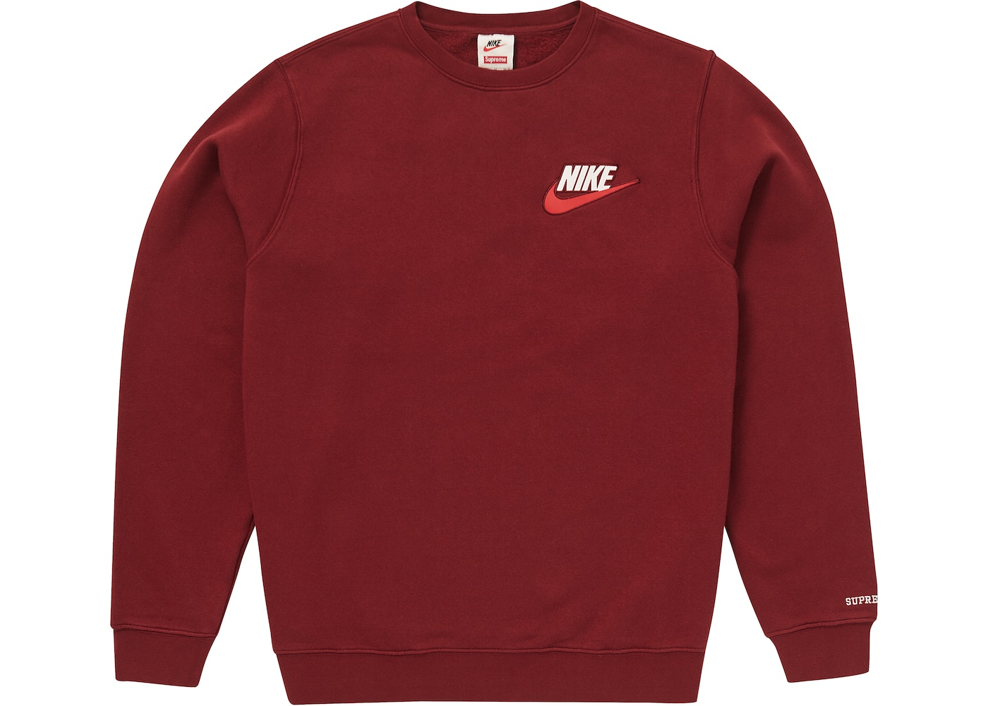4a884011 Sell. or Ask. Size L. View All Bids. Supreme Nike Crewneck Burgundy