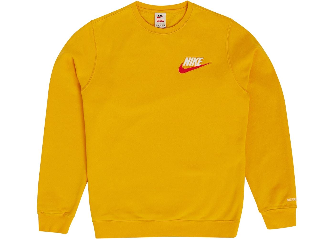 0b5eba20e Supreme Nike Crewneck Mustard - FW18
