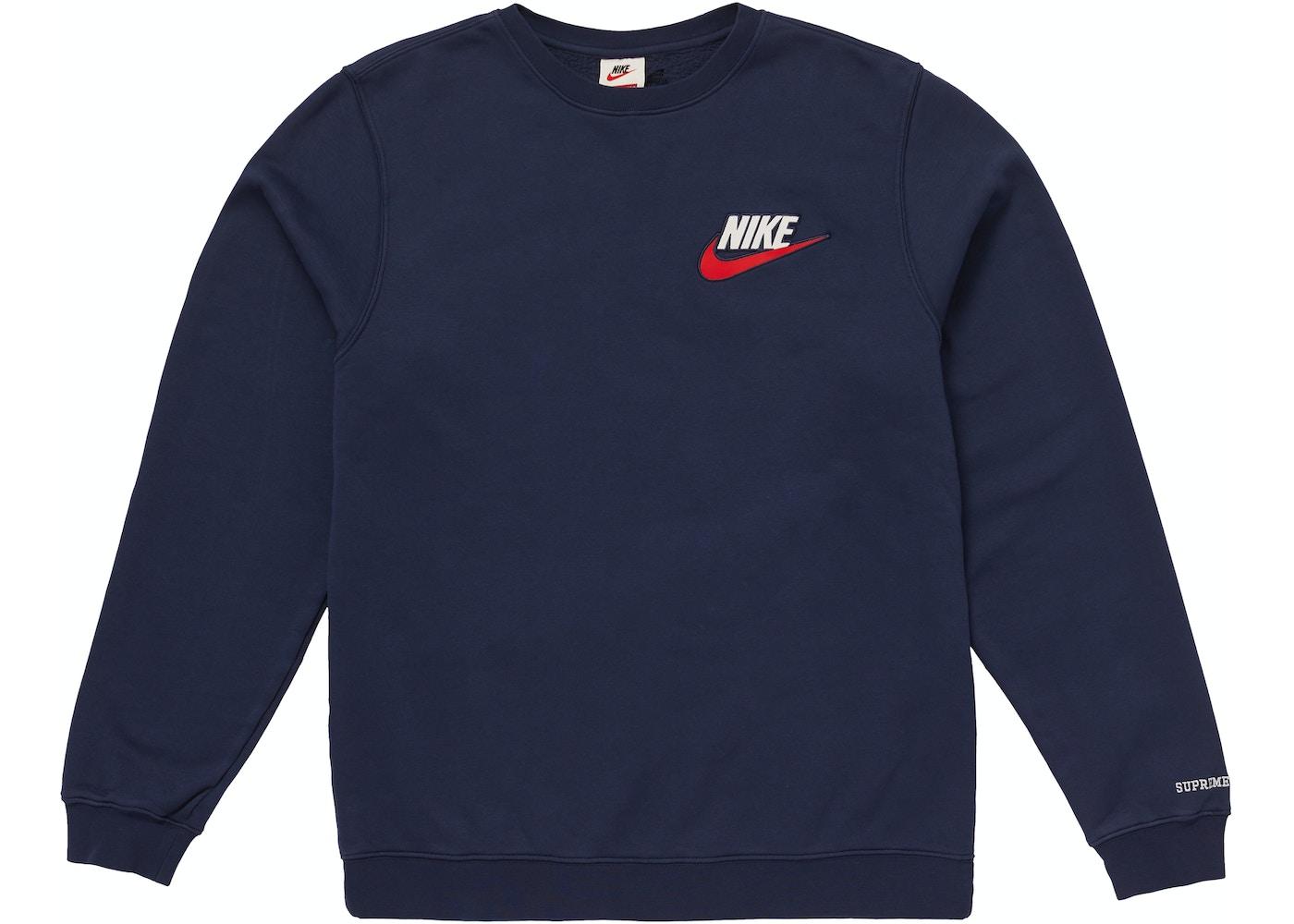 157756e5 Supreme Nike Crewneck Navy - FW18