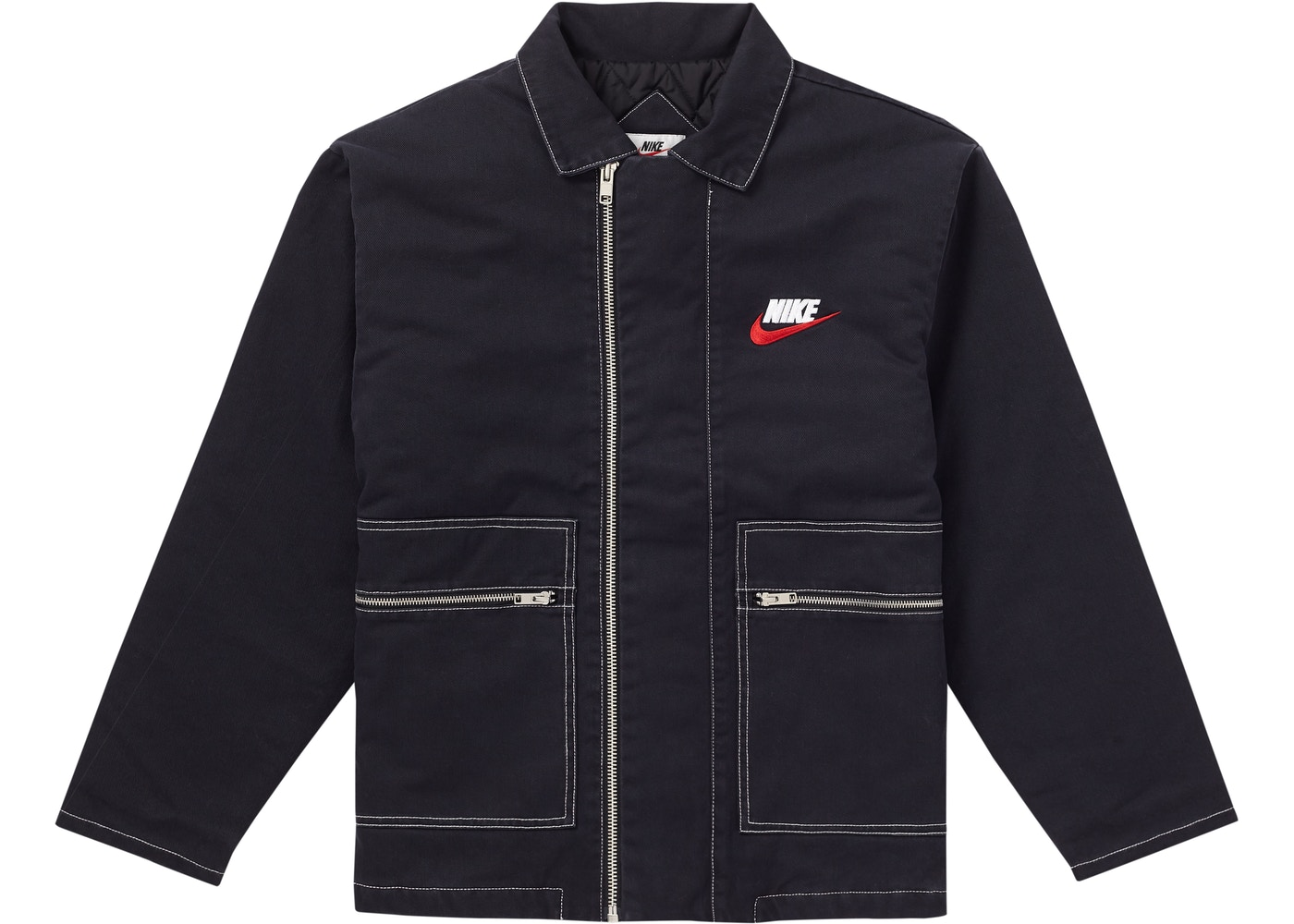 Supreme Nike Double Zip Quilted Work Jacket Black - FW18
