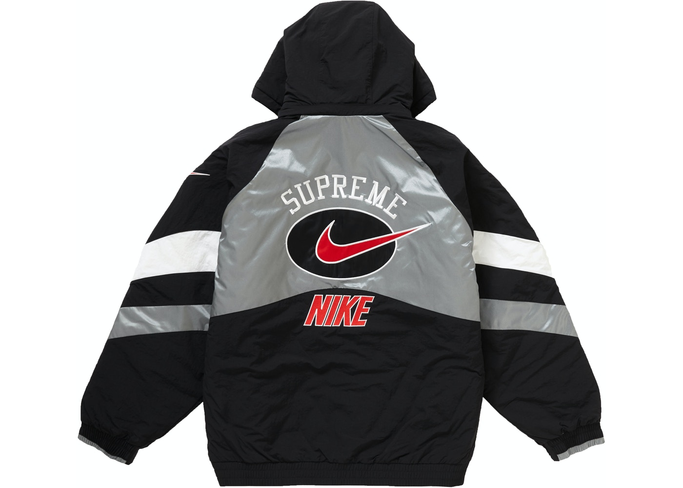 Supeme Jacket Supreme Nike Hooded Sport Jacket Silver - SS19