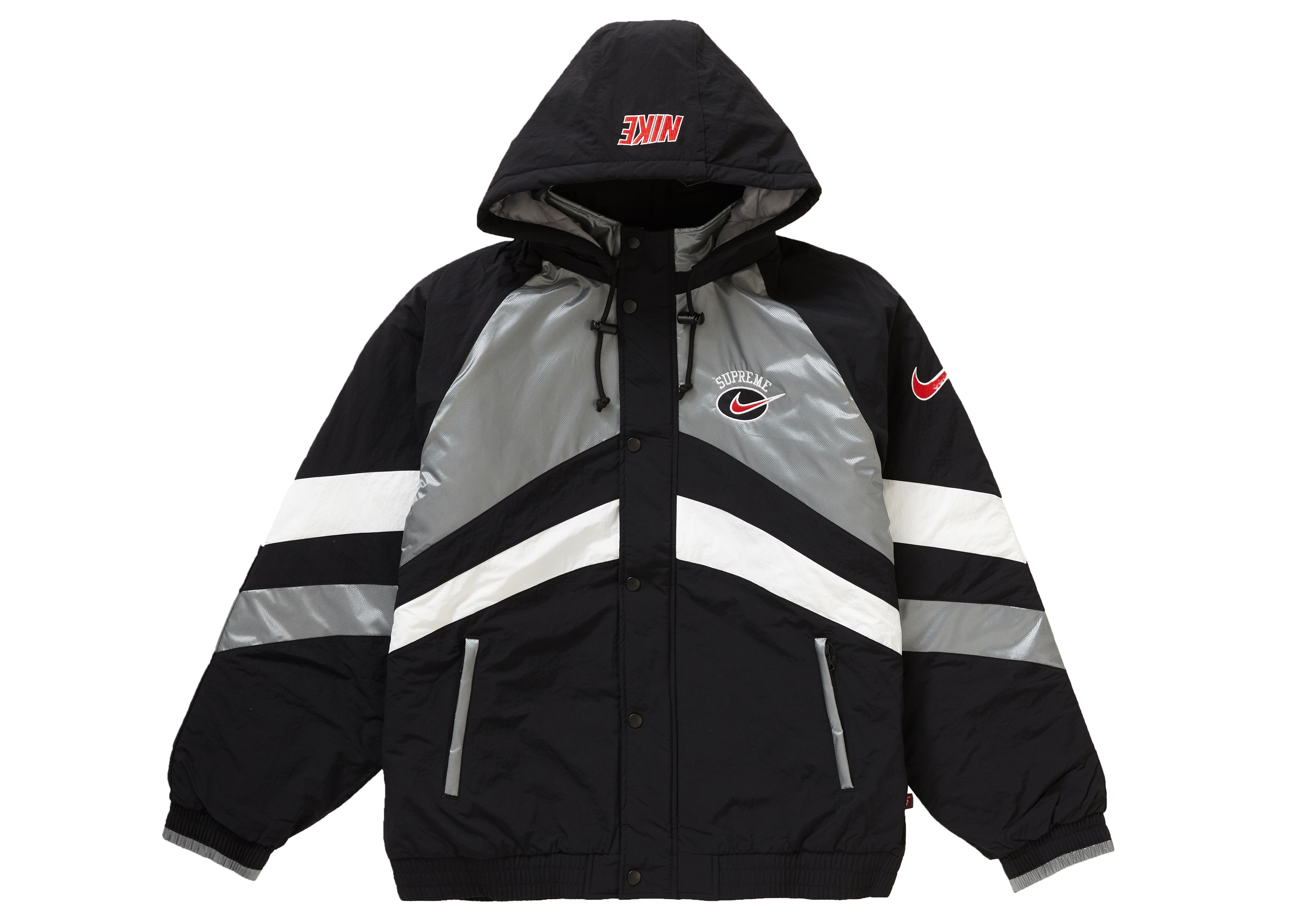 Supreme Nike Hooded Sport Jacket Silver