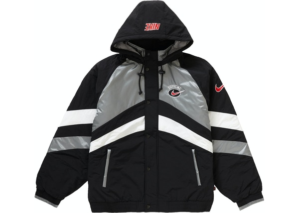 86760c6a Supreme Nike Hooded Sport Jacket Silver