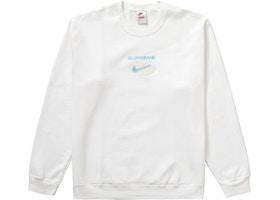 Supreme Nike Jewel Crewneck White