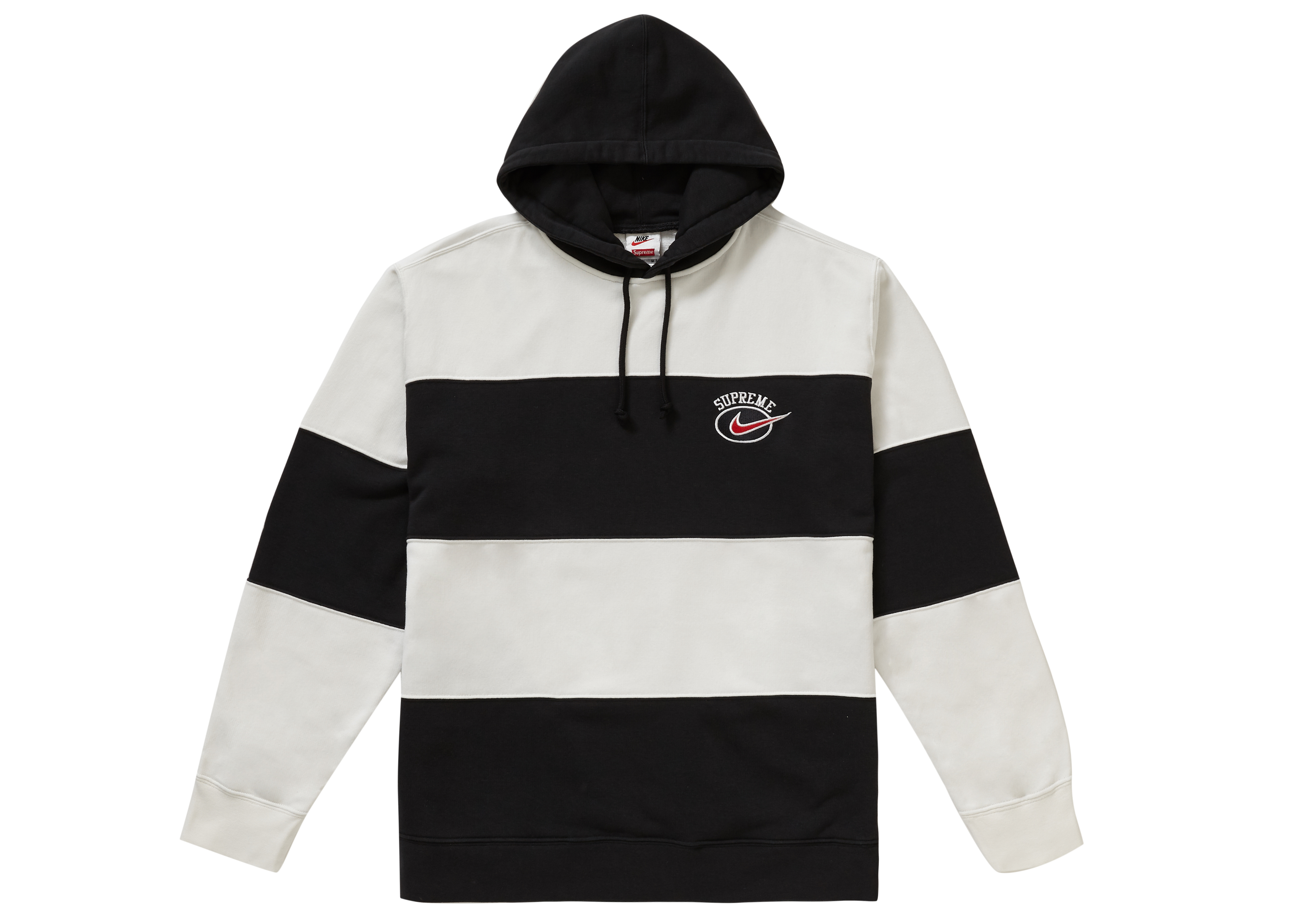 Supreme Nike Stripe Hooded Sweatshirt Black - SS19