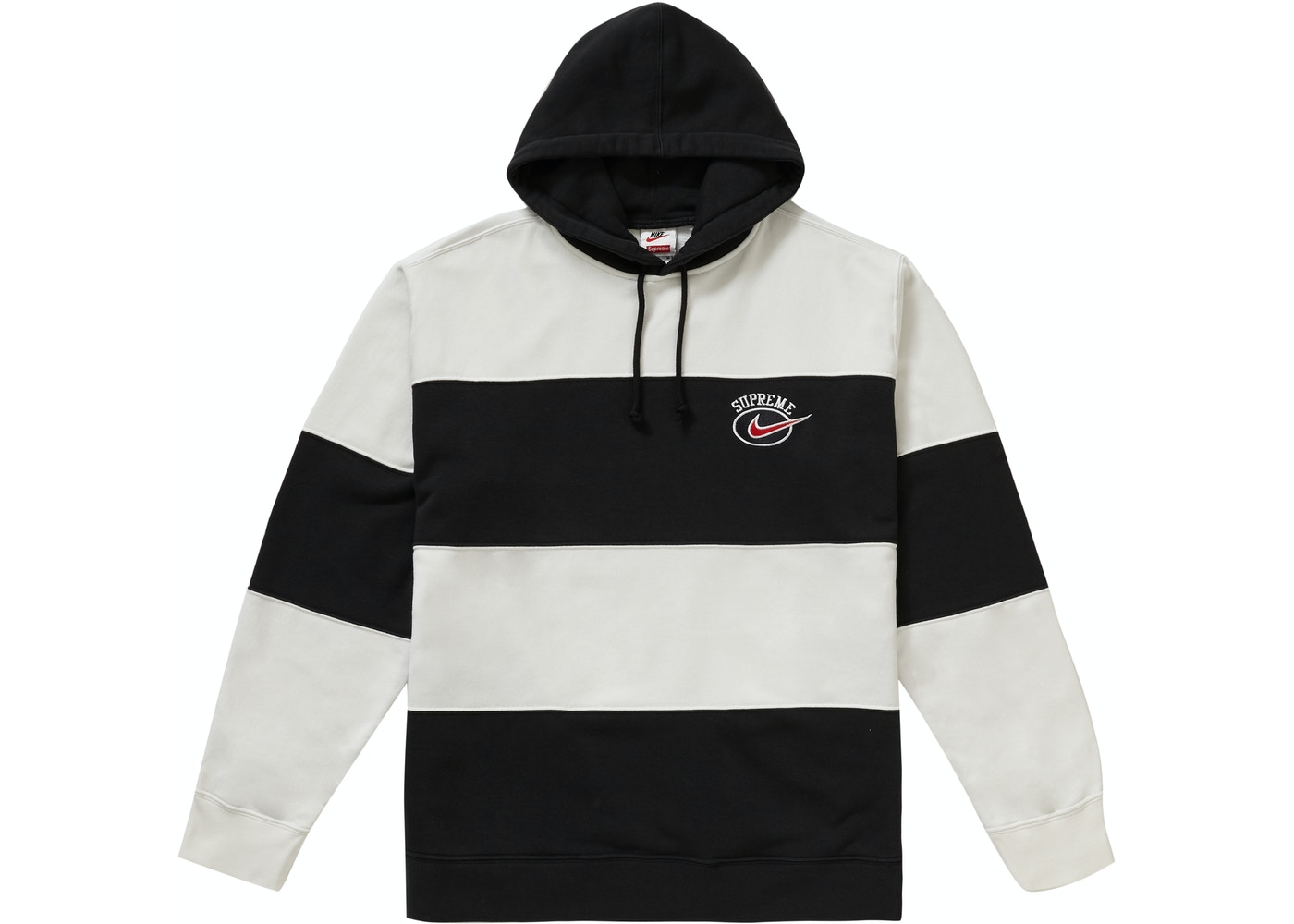huge discount 8409d 9be01 Supreme Nike Stripe Hooded Sweatshirt Black - SS19