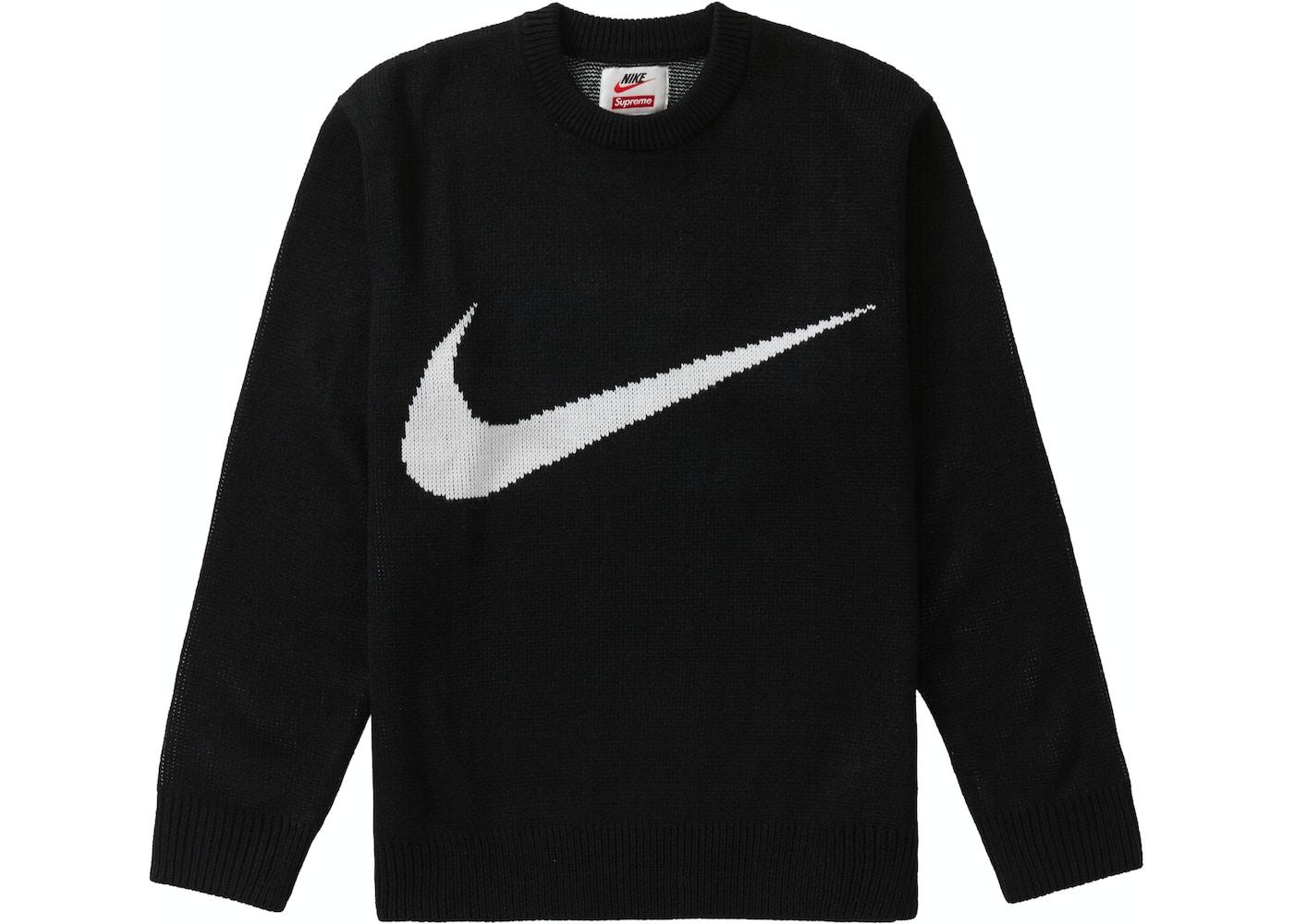 gamma completa di articoli migliori scarpe da ginnastica scarpe eleganti Supreme Nike Swoosh Sweater Black - SS19