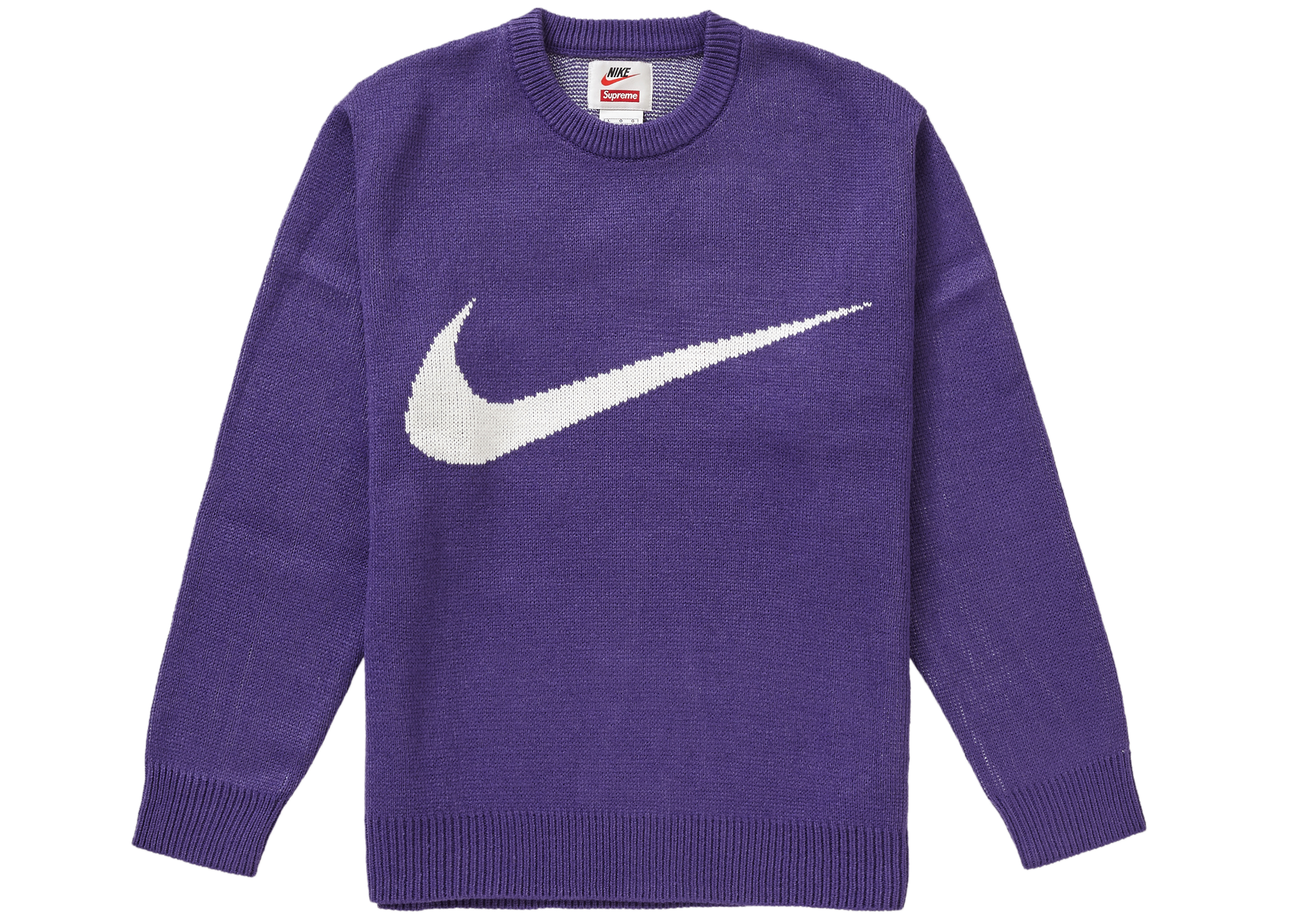 Supreme Nike Swoosh Sweater Purple - SS19