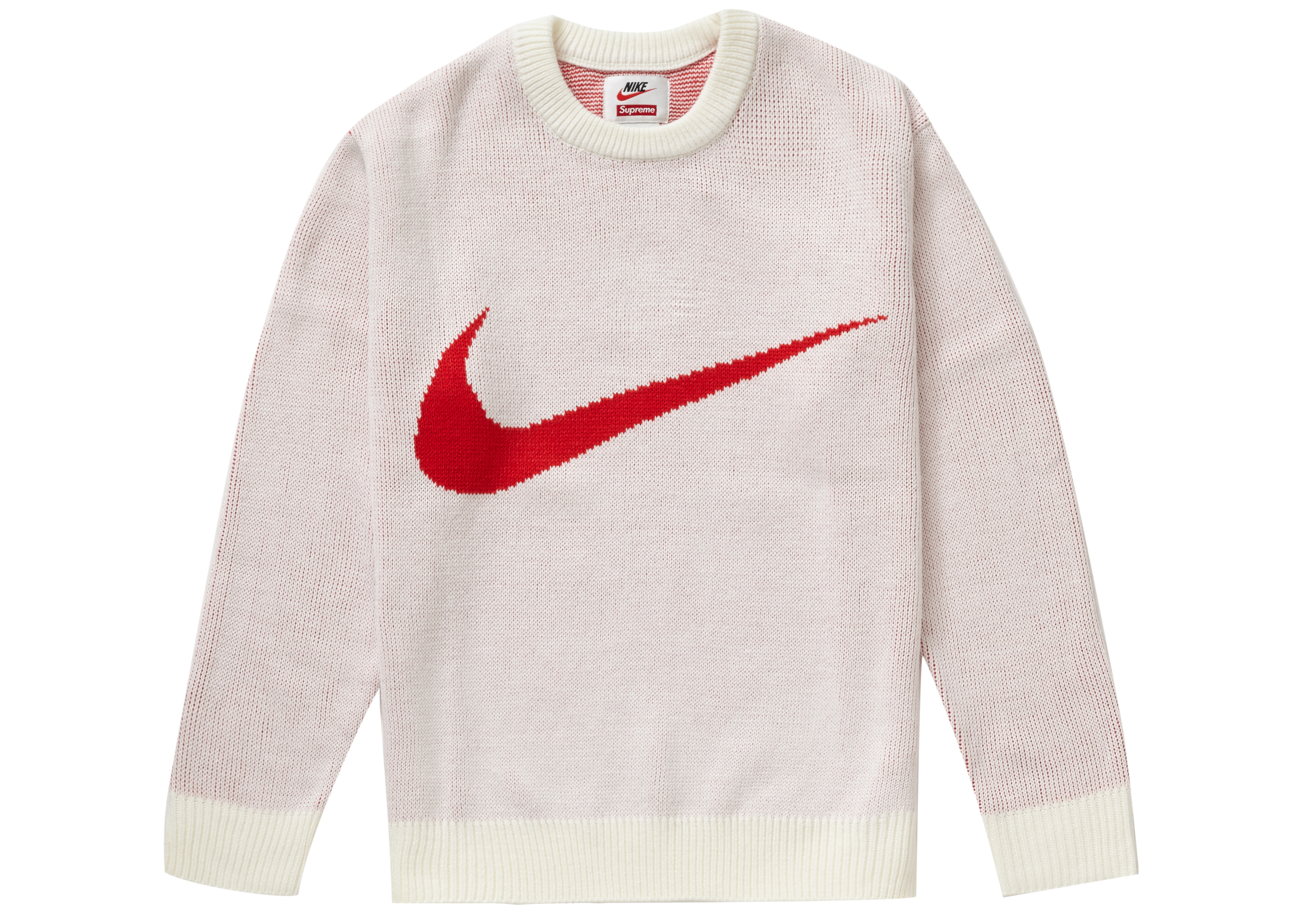Supreme Nike Swoosh Sweater White - SS19