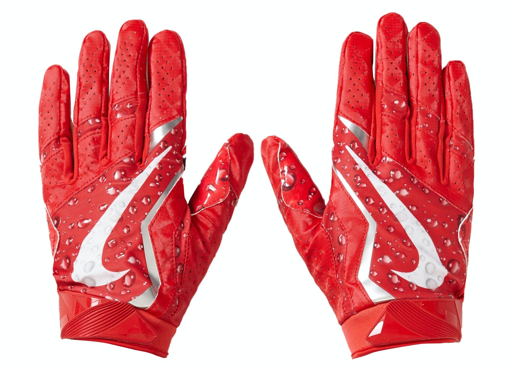 Supreme Nike Vapor Jet 4.0 Football Gloves Red