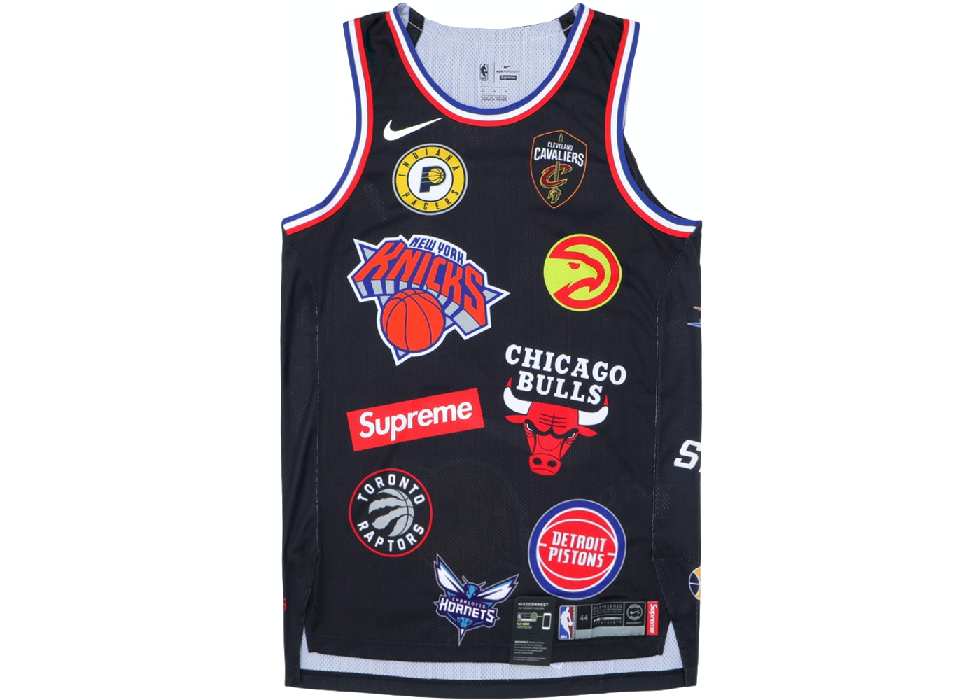 Supreme Nike NBA Teams Authentic Jersey Black - SS18 59cd83846
