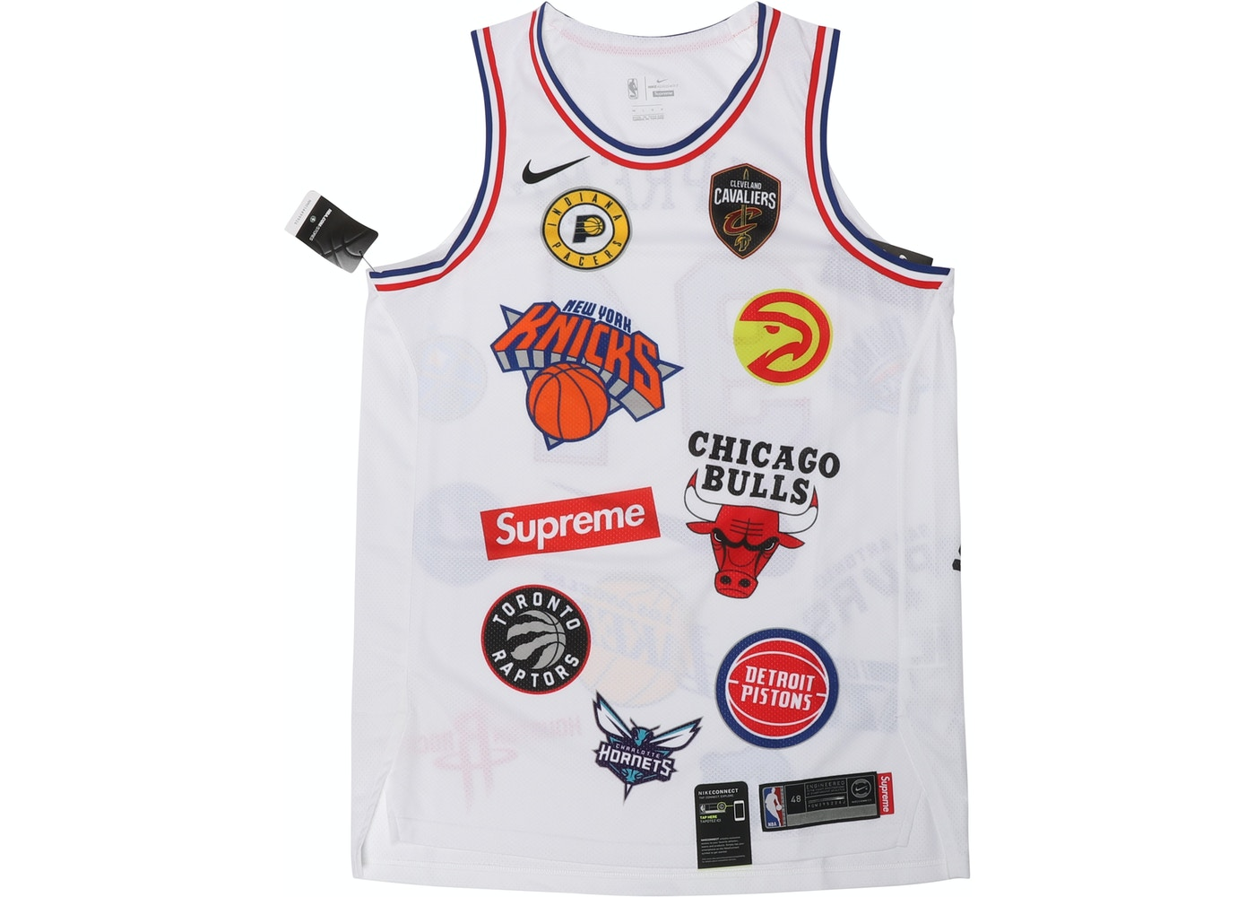 331ab2f7 Supreme Nike/NBA Teams Authentic Jersey White - SS18