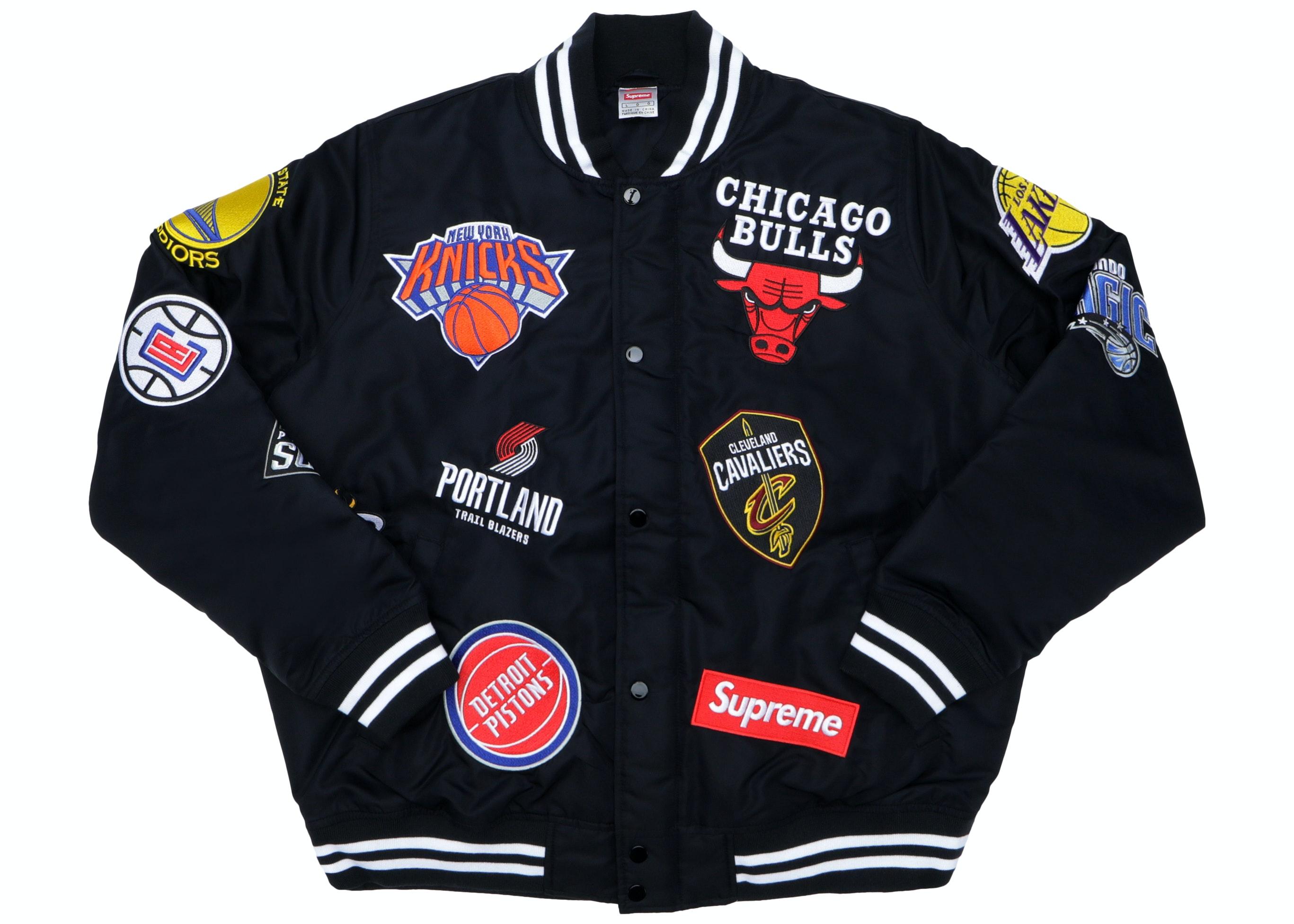 Supreme Nike/NBA Teams Warm-Up Jacket Black