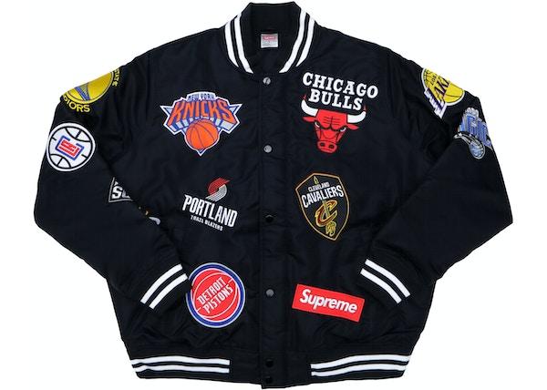 save off a6294 66f1e Supreme Nike NBA Teams Warm-Up Jacket Black - SS18